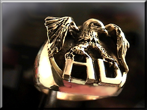 harley Davidson 14k gold ring